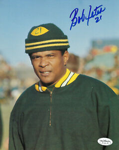 1960-039-s-PACKERS-Bob-Jeter-signed-8x10-photo-JSA-AUTO-Autographed-Green-Bay