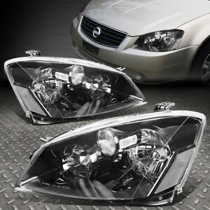FOR 2005-2006 NISSAN ALTIMA PAIR BLACK HOUSING CLEAR CORNER HEADLIGHT/LAMP SET