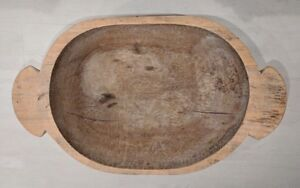 Details About Vintage Extra Large Wooden Dough Bowl Hand Carved Farmhouse Bread Trencher