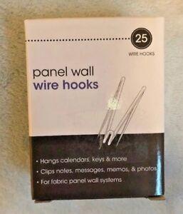25-Advantus-Cubicle-Panel-Wall-Wire-Hooks-Silver-Pins-75370-fabric-material-NIB