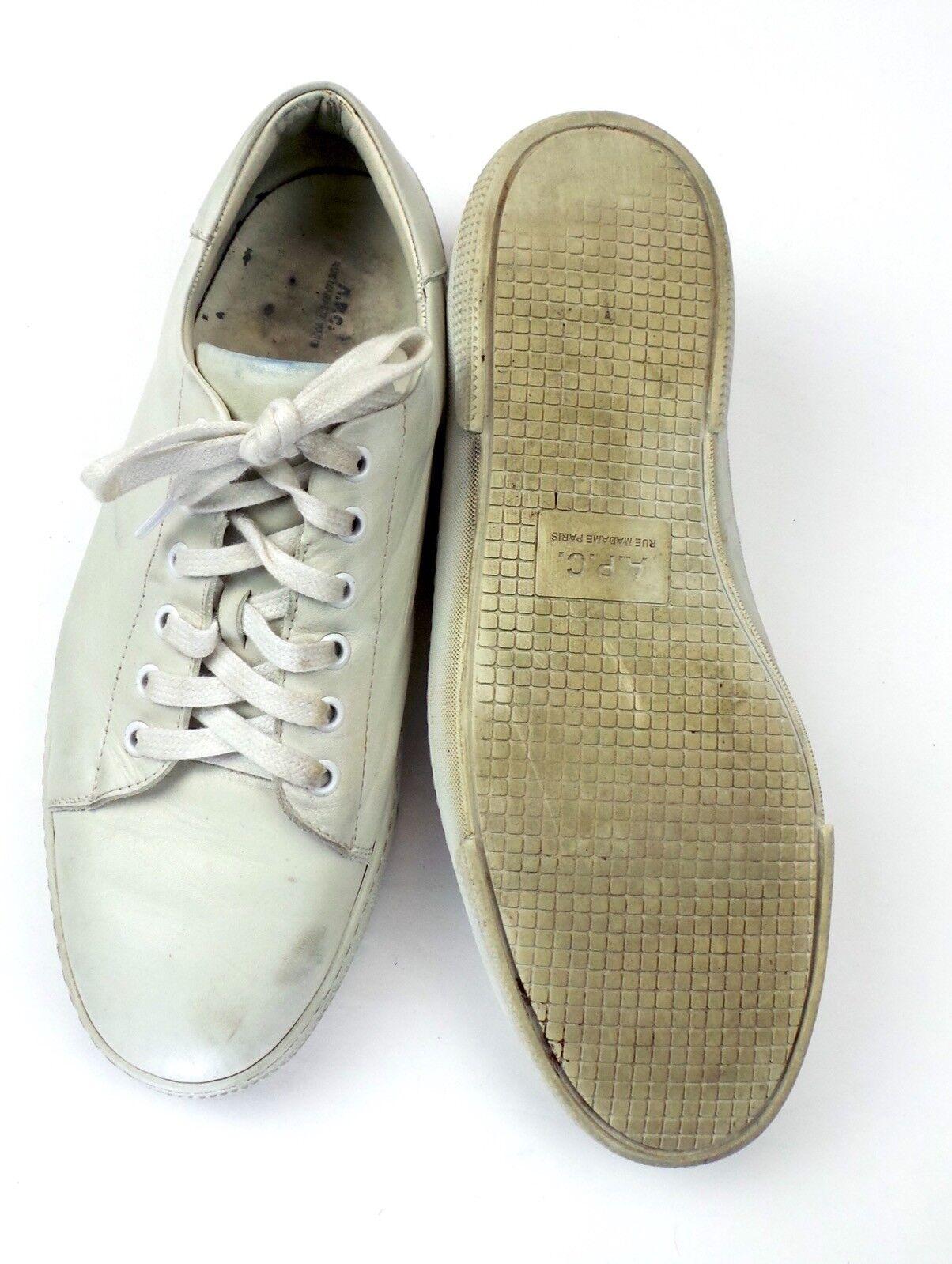APC Steffi Tennis Sneakers Leather Women's Women's Women's Size 43  355 87366b
