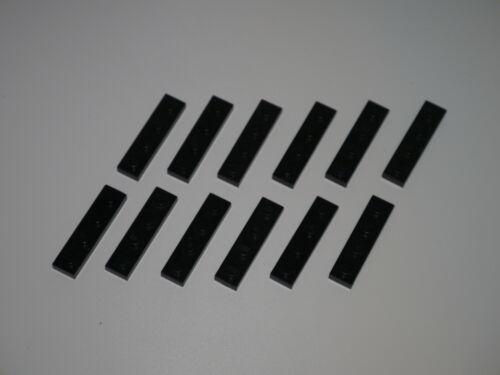 12 Lego 9V Eisenbahn TRAIN Monorail 4x1 Steine zum Verbinden Gleisen SCHWARZ