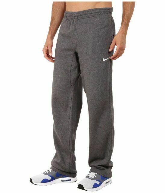 Men's Nike Club Fleece Pants Dark Grey Heather Size Small 826424 071
