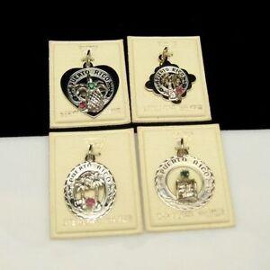 CREA-4-Vintage-Sterling-Silver-Charms-Puerto-Rico-Souvenir-Bridesmaid-Gifts-NOS