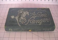 Lone Ranger Pencil Kit / Box Vintage Dated 1938 Cardboard Pull Out Drawer Nice