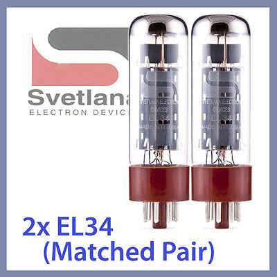 2x Svetlana EL34 Svet Svetana Svelana EL 34 Tubes Matched Pair TESTED