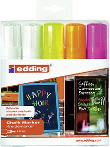 Edding-4090-5er-etui-Case-Window-Marker-4-15mm-Chalk-Kuretake-for-NEW