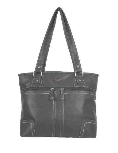 Womens Faux Leather Plain Messenger Shoulder Handbag Purse Two Straps Ladies Bag