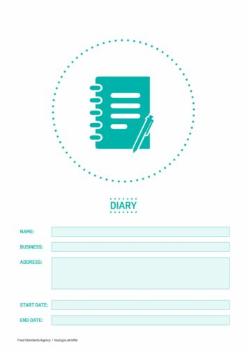 SFBB Safer Food Better Business Caterers 18 Month Diary Refill Pack Food Hygiene