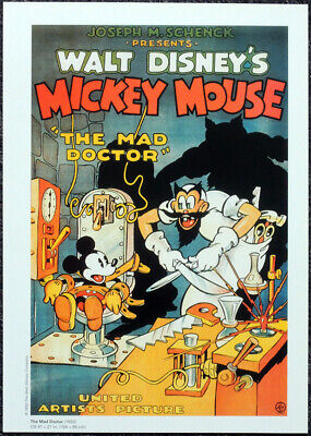 The mad doctor Mickey Mouse Disney cartoon poster print