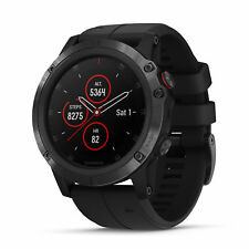 Garmin fenix 5X Plus 51mm Sapphire Multisport GPS Watch Black/Black Band