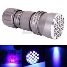 New High Quality UV LED Strong Ultra Violet Light Flashlight Torch 21 Leds