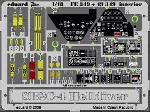 Eduard-1-48-Sb2c-4-Helldiver-Interior-Grabado-Revell-Monogram-Fe349