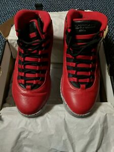 premium selection e878a 08125 Details about Air Jordan 10 Retro 30th Anniversary Gym Red Bulls
