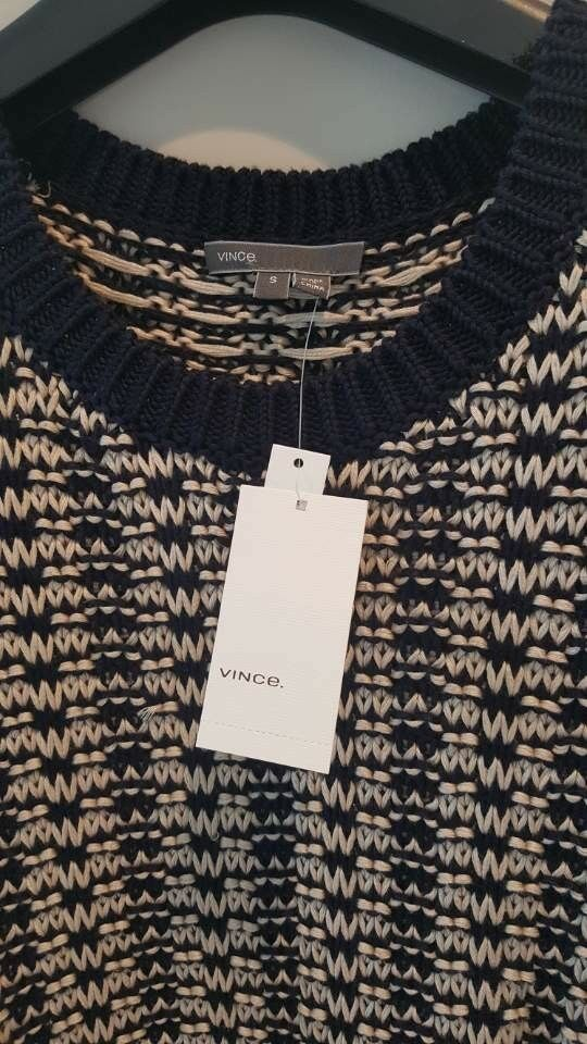 VINCE Sweater Drop Size S Navy New with Tag Tag Tag 5aeee9