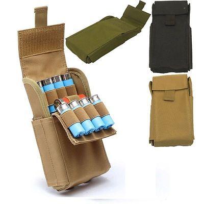 Hunting MOLLE 25 Round 12 Gauge Shells Shotgun Ammo Reload Pouch Waist Bag Tan