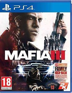 BRAND NEW SEALED MAFIA III 3 PS4 PLAYSTATION 4 GAME + BONUS DLCS