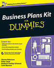 Business Plans Kit For Dummies by Barbara Findlay Schenck, Steven D. Peterson, Peter E. Jaret (Paperback, 2009)