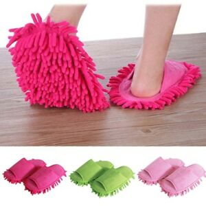 1Pair-Creative-Floor-Shoes-Mop-Slippers-Lazy-Quick-Polishing-Cleaning-Dust-UK