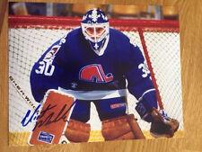 Quebec Nordiques Clint Malarchuk signed 8x10 W/COA pose 1