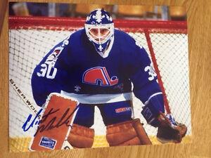 Quebec Nordiques Clint Malarchuk Signed 8x10 W Coa Pose 1 Ebay