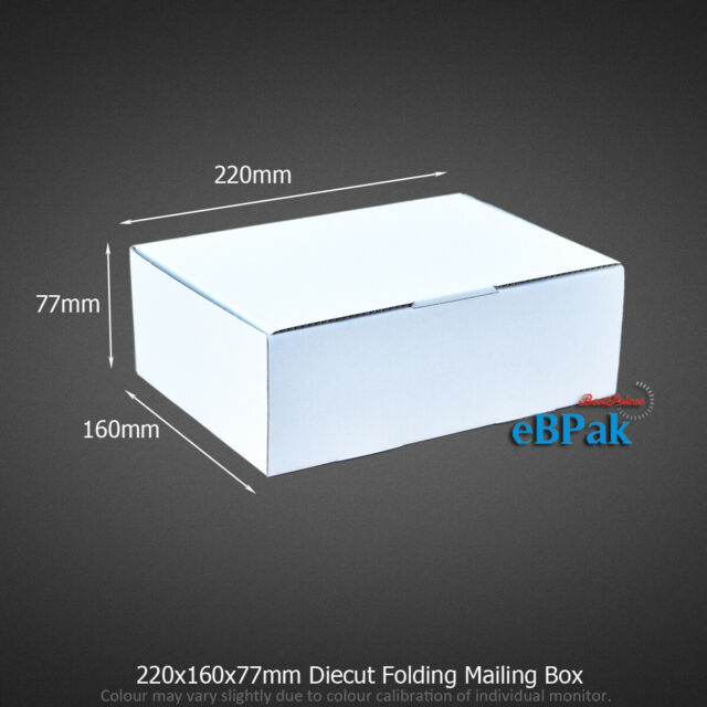 Mailing Box 220 x 160 x 77mm A5 BX1 B1 Shipping Carton White Black Pink Brown