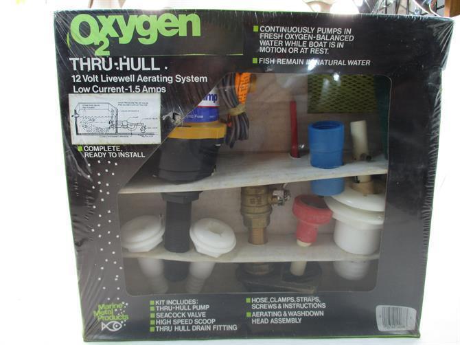 Marine Metal OX2 Oxygène Thru-The-Hull Livewell Aérateur Kit 22346