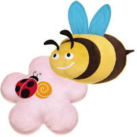 Dog Toy Flutter Bugs Soft Plush Jumbo-sized Big Dogs Puppies Crinkle Squeaker