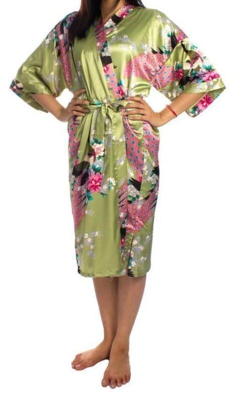 100% Wahr Kimono Morgenmantel Hausmantel Bademantel China Seide - Neu! Orig. Top Qualität! Eine VollstäNdige Palette Von Spezifikationen