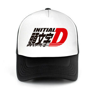 Image is loading Initial-D-Anime-Trucker-Mesh-Hat-Adjustable-Size 4df06d68aa9