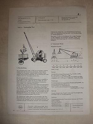Ddr Kataloge & Prospekte Systematisch Ddr Werbung Reklame Prospekt Datenblatt Bagger Selbstfahrlader T 170 Veb 1968