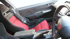 RED STITCHING FITS HONDA CIVIC TYPE R 06-11 2X FRONT DOOR CARD TRIM SUEDE COVERS