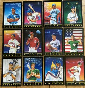 1991 FLEER BASEBALL PRO VISIONS 12 CARD SET