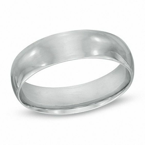 8mm Polished .950 Sterling Silver Wedding Band Size 9 - 14