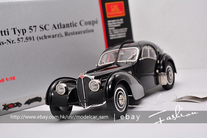 CMC 1 18 bugatti Typ 57SC ATLANTIC 1938 Black