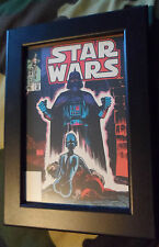 3 x Star Wars Framed prints postcards 2009 Darth Vader Darth Sidious Sith