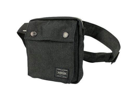 New Yoshida PORTER SMOKY WAIST BAG 592-07508 Black From Japan