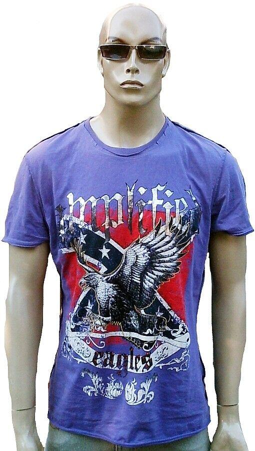COOL Amplified Eagles USA Rocker Biker Rock Star Tatuaggio Designer T-SHIRT XXL 58