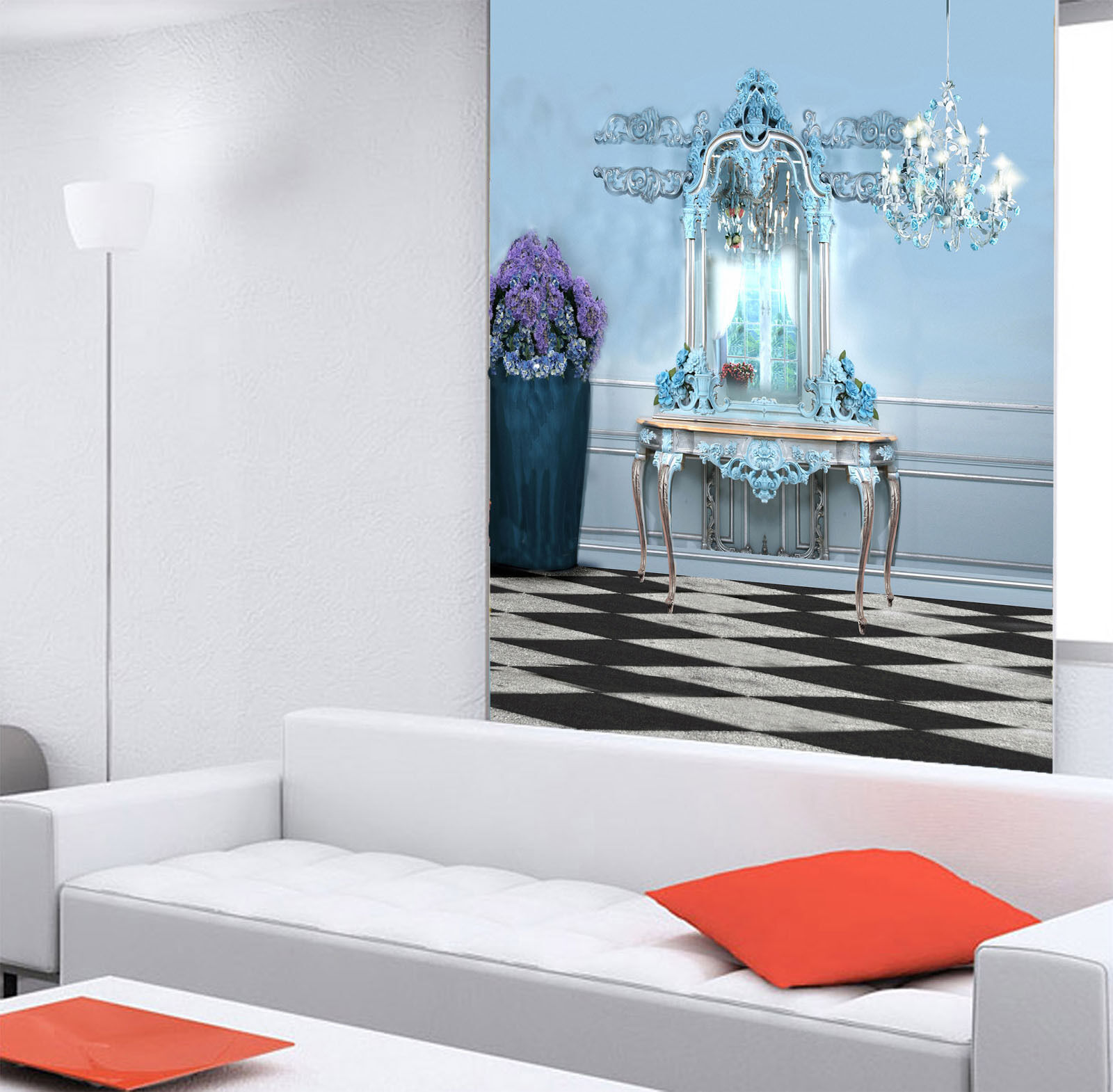 3D Mirror And Light 636 Wall Paper Wall Print Decal Wall Deco Wall Indoor Murals