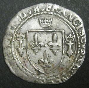 FRANCOIS-Ier-Grand-blanc-de-Bretagne-2-Type-1522-1540-RARE