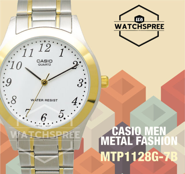 Casio Standard Analog Watch MTP1128G-7B