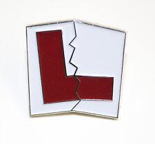 L Plate Learner Passed Test Metal Enamel  Lapel Pin Badge- L038