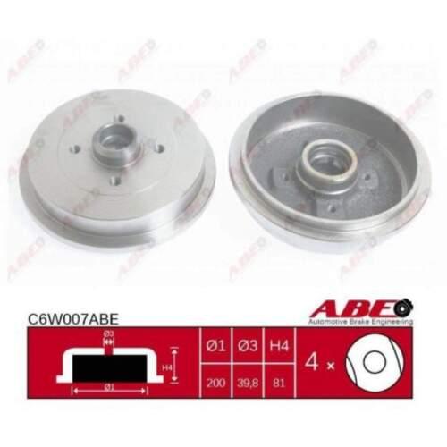 C6W007ABE 2 x Bremstrommel Trommel ABE