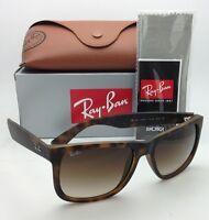 Ray-Ban Sunglasses JUSTIN RB 4165 710/13 51-16 Rubber Light Havana w/ Brown Fade