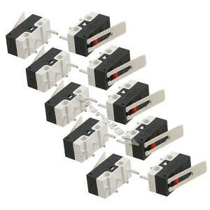 10pcs-3Pins-Long-Hinge-Lever-Momentary-SPDT-Mini-Micro-Switch-AC-125V-2A-s658