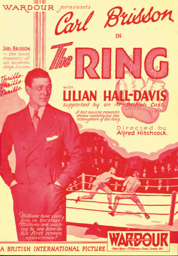 The Ring Carl Brisson Alfred Hitchcock movie poster print 1927