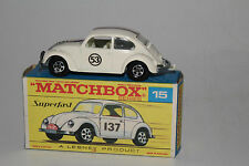 MATCHBOX SUPERFAST #15 VOLKSWAGEN VW HERBIE THE LOVE BUG DON'S HOBBY CONVERSION
