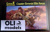 1/72 Counter-terrorist Elite Forces Figures Set - Caesar Miniatures 82