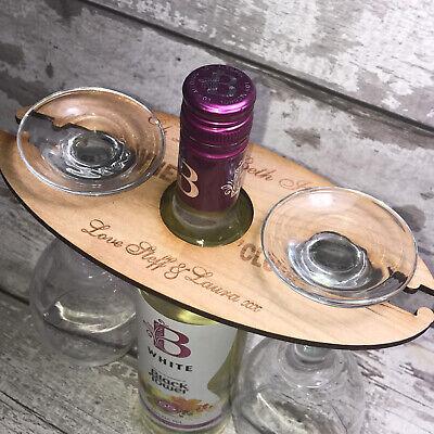 Personnalisé Gin O CLOCK bouteille /& porte-verre//Serveur en bois cadeau d/'anniversaire