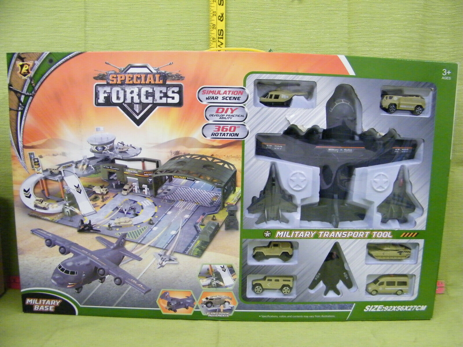 Peng Rong Special Forces Military Base, Dimensione 92x56x27cm, Military Transport Tool